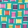 Michael Miller - Cool Spools fabric in Teal