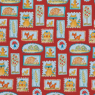 Fox Playground fabric - Frames Red