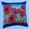 Arty's ready-outlined silk cushion cover - Wild Poppies - SOLD OUT