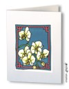 Orchids - set of 4 silk cards