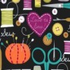 Michael Miller - Love to Sew fabric - black
