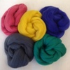 100g pack of dyed Merino Wool Fibres in assorted colours