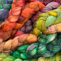 Dyed Silk Fibres