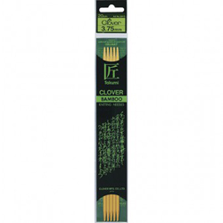 Clover Bamboo Knitting Needles - 20cm long, 2.0mm, set of 4 double-pointed (1)