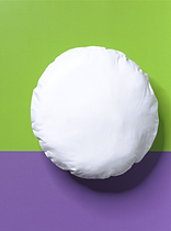 Round Cotton Cushion Cover with zip 39cm diam (1)