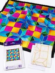 Cross -  Ideen habotai 8 square ready-outlined silk scarf 55 x 55cm (2)