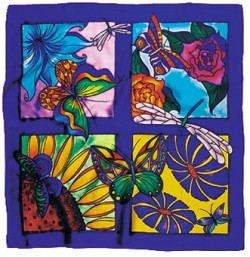 Scara -  Ideen habotai 8 square ready-outlined silk scarf (3)