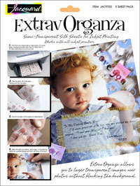 Jacquard ExtravOrganza Inkjet Printable Fabric 5-sheet A4 pack (1) SEE DESCRIPTION