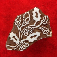 Indian Woodblock Stamp Large Holly (4)