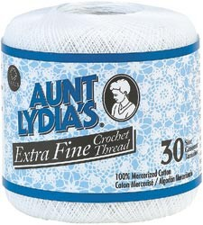 Aunt Lydia's Extra Fine Crochet Thread size 30  - (ONLY 2 X CREAM LEFT)