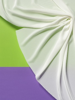 White Crepe de Chine 10 - glossy OUT OF STOCK