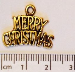 Merry Christmas charm - gold