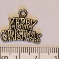 Merry Christmas charm - silver (5)