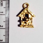 Bird House charm - gold SOLD OUT