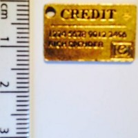 Credit Card charm - gold (7)