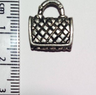 Quilted Handbag charm - silver SOLD OUT