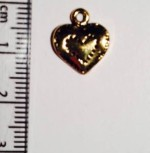Heart charm - gold (15)