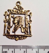 Pharoah Picture charm - gold (27)
