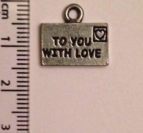 To You With Love charm - silver SOLD OUT