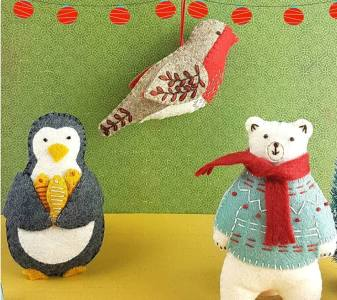 Corinne Lapierre 3 mini kits - Penguin, Polar Bear & Robin NEW