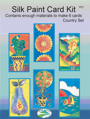 """Country"" Greetings Card Kit - 6 cards and 4 paints"