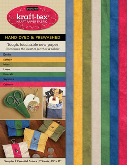 Kraft Tex Hand-dyed and Prewashed 7 Essential Colours Sampler Pack NEW