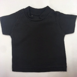 Mini Cotton T-shirt Black - for doll/teddy/display (2)