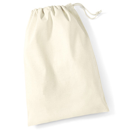 Natural Cotton Drawstring Bag Medium NEW