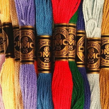 DMC Stranded Cotton thread - assorted colours sent at random