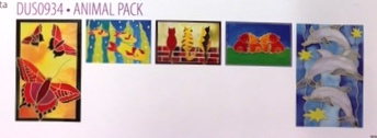 H Dupont Ready-outlined Greetings Card Set - Animals