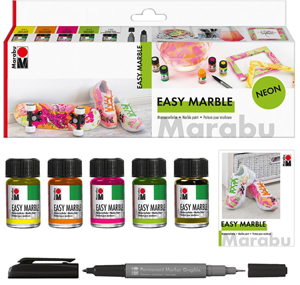 Marabu Easy Marble Set Neon NEW