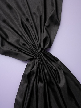 Black Habotai 8 mediumweight silk by the metre