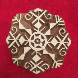 Indian Woodblock Stamp Large 8-sided Snowflake (3)