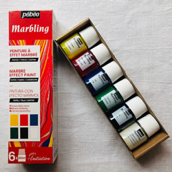 Pebeo Marbling Initiation Set of 5 x 20ml colours & Base NEW