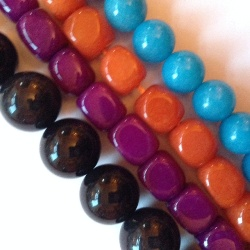 Itchydo real dyed jade bead - single small