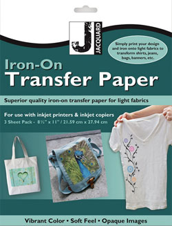 Jacquard Inkjet Transfer Paper pack of 3 sheets NEW FORMULATION