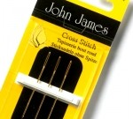 John James needle pack - Gold Plated Tapestry/Cross Stitch size 26  (8)