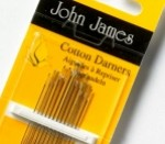 John James needle pack - Cotton Darners/Short Darners sizes 3/9 (1)