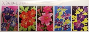 H Dupont Ready-outlined Greetings Card Set - Lily