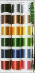 Madeira Rayon 40 threads for embroidery - set of 18 (1)