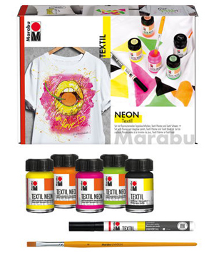 Marabu Textil Neon Set NEW