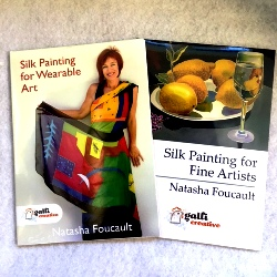 """Silk Painting for Wearable Art"" & ""Silk Painting for Fine Artists"" DVDs"