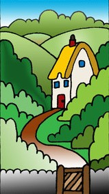 NEW Silk Greetings Card - House