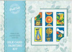 Silk Greetings Card Kit - 6 cards and 4 paints
