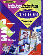 Jacquard Print on Cotton Inkjet Printable Fabric PACK OF 4 SHEETS ONLY - SOLD OUT
