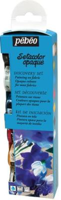Pebeo Setacolor Opaque Discovery Collection of 6 colours