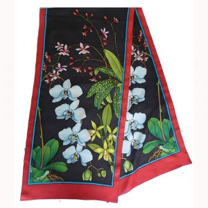 Orchidees PWG 180cm long silk scarf (1)