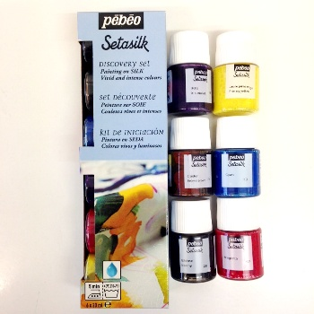Pebeo Setasilk Discovery Collection of 6 colours  NEW LOWER PRICE (1 in stock)