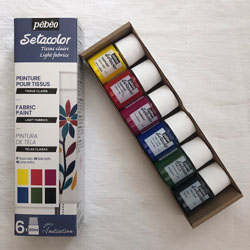Pebeo Setacolor Light fabric paint  Initiation Set of 6 x 20ml colours NEW