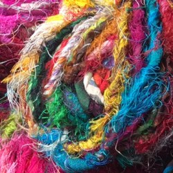 Spun Silk Sari Ribbon Yarn NEW
